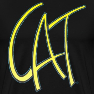 Dave The Cat Yellow Cat Logo - Men's Premium T-Shirt