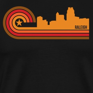 Retro Style Raleigh North Carolina Skyline - Men's Premium T-Shirt
