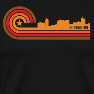 Retro Style Huntington West Virginia Skyline - Men's Premium T-Shirt