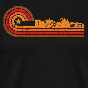Retro Style Augusta Maine Skyline Distressed - Men's Premium T-Shirt