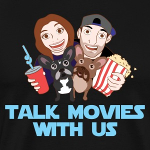 Talk Movies With Us Logo with Text - Men's Premium T-Shirt