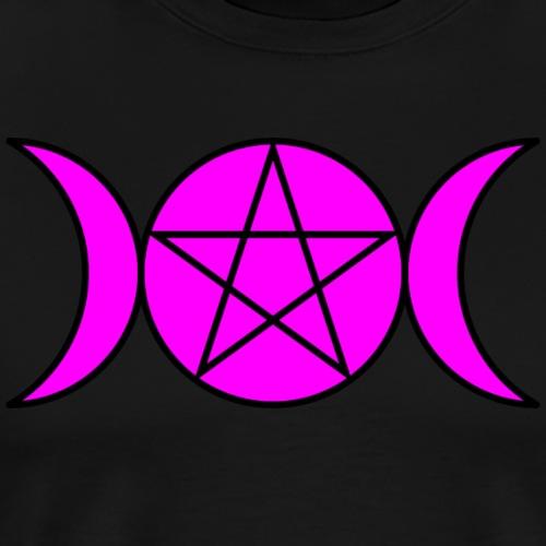 Triple Moon Goddess - Fuchsia - Men's Premium T-Shirt