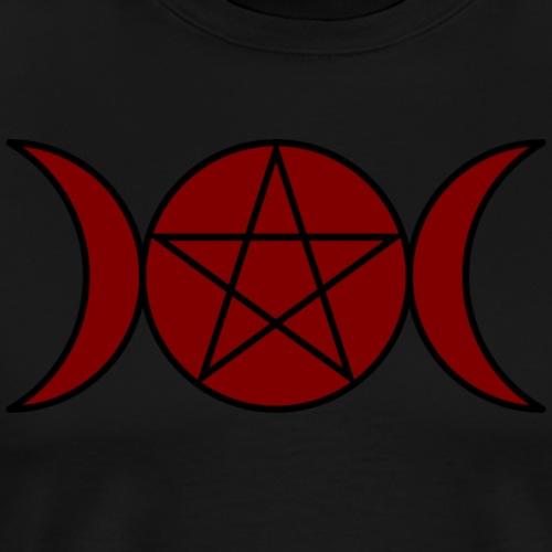 Triple Moon Goddess - Maroon - Men's Premium T-Shirt