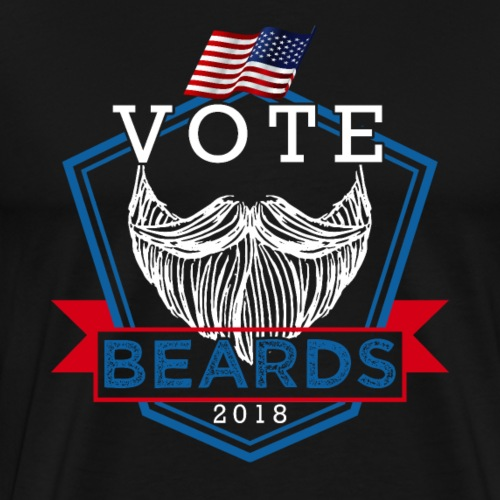 Vote Beards 2018 - Men's Premium T-Shirt