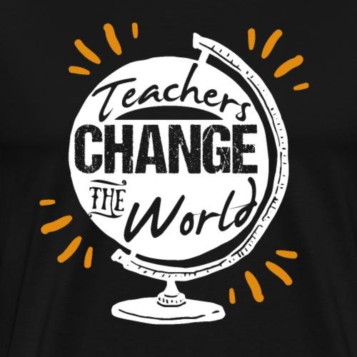 Teachers Change The World - Men's Premium T-Shirt