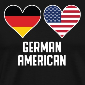 German American Heart Flags - Men's Premium T-Shirt