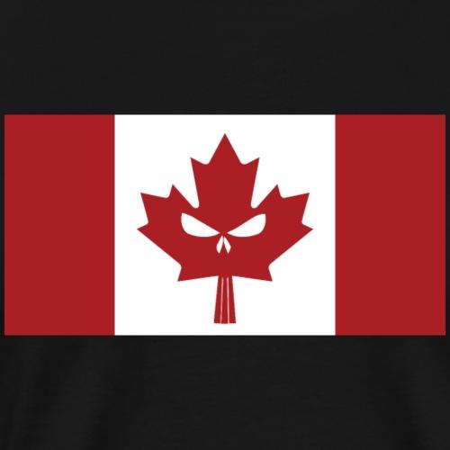 Canadian Skull Flag - Men's Premium T-Shirt