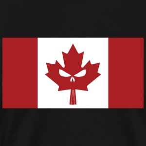 Canadian Skull Flag - Men's Premium T-Shirt
