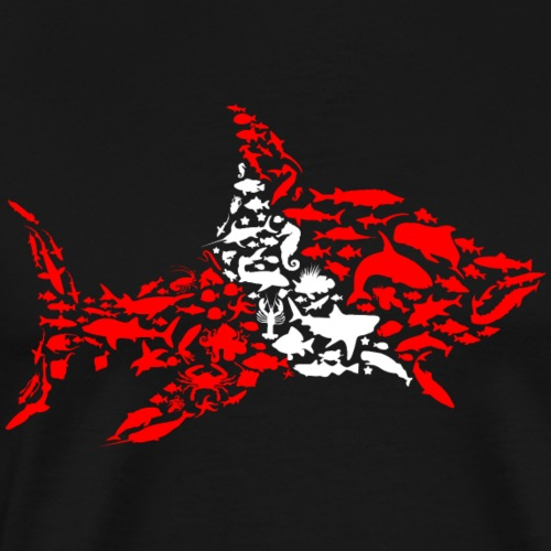 Shark Flag Diver - Men's Premium T-Shirt