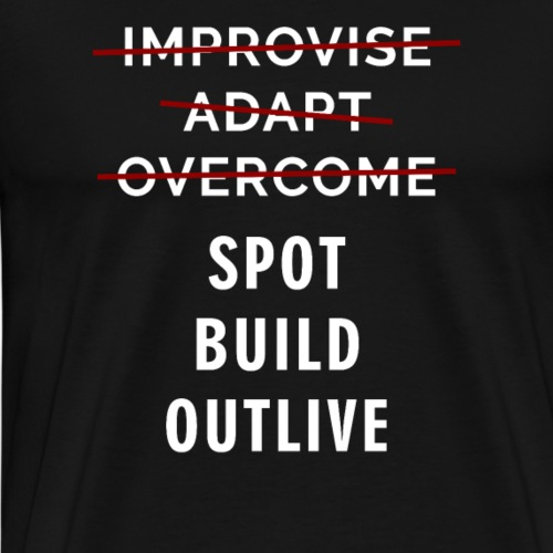 Fortnite Merchandise Spot Build Outlive T-shirt - Men's Premium T-Shirt