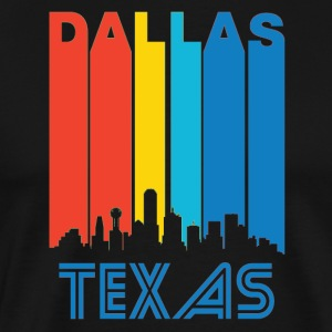 Retro Dallas Skyline - Men's Premium T-Shirt