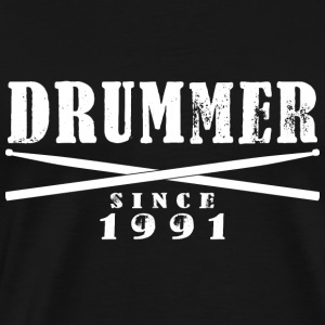 Drummer T-Shirt - Drummer Since 1991 - Men's Premium T-Shirt