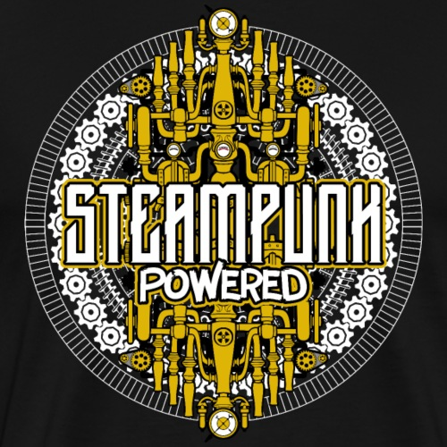 Steampunk Powered Machine - Men's Premium T-Shirt