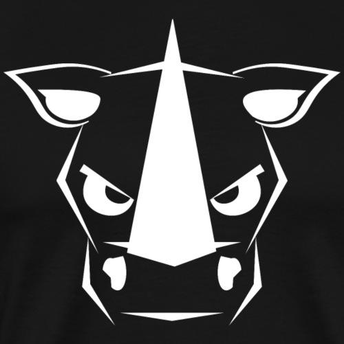 Black Rhino - White Design - Men's Premium T-Shirt
