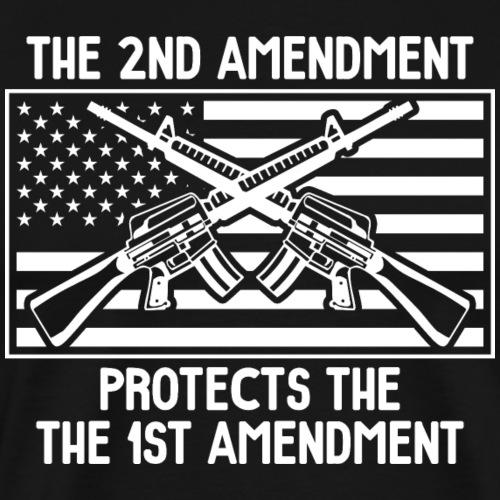 The Second Amendment Protects the First Amendment - Men's Premium T-Shirt