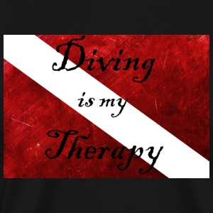 Diving is my Therapy - Men's Premium T-Shirt
