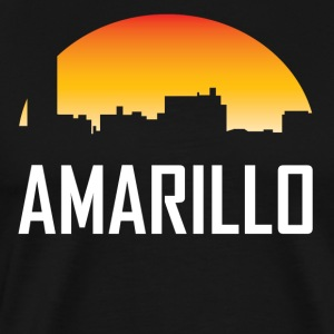Amarilo Texas Sunset Skyline - Men's Premium T-Shirt
