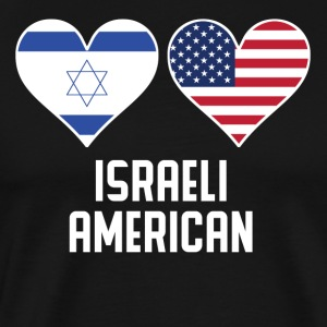 Israeli American Heart Flags - Men's Premium T-Shirt
