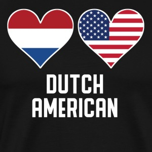 Dutch American Heart Flags - Men's Premium T-Shirt