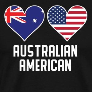 Australian American Heart Flags - Men's Premium T-Shirt