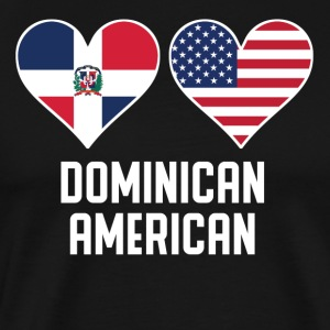 Dominican American Heart Flags - Men's Premium T-Shirt