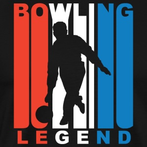 Red White And Blue Bowling Legend - Men's Premium T-Shirt