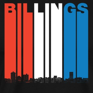 Red White And Blue Billings Montana Skyline - Men's Premium T-Shirt