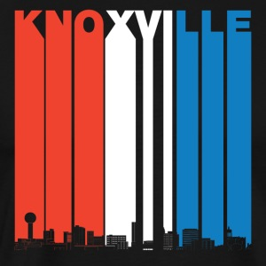 Red White And Blue Knoxville Tennessee Skyline - Men's Premium T-Shirt