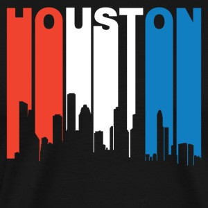 Red White And Blue Houston Texas Skyline - Men's Premium T-Shirt
