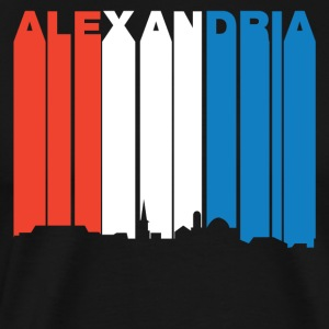Red White And Blue Alexandria Virginia Skyline - Men's Premium T-Shirt