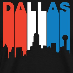 Red White And Blue Dallas Texas Skyline - Men's Premium T-Shirt