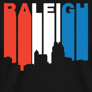 Red White And Blue Raleigh North Carolina Skyline - Men's Premium T-Shirt