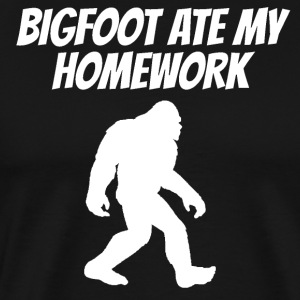 Bigfoot Ate My Homework - Men's Premium T-Shirt