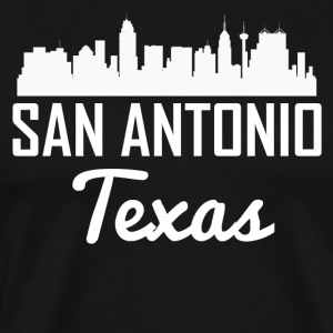 San Antonio Texas Skyline - Men's Premium T-Shirt