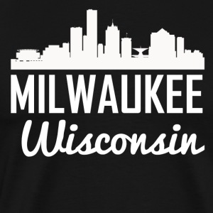 Milwaukee Wisconsin Skyline - Men's Premium T-Shirt