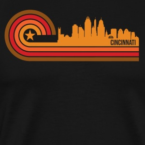 Retro Style Cincinnati Ohio Skyline - Men's Premium T-Shirt