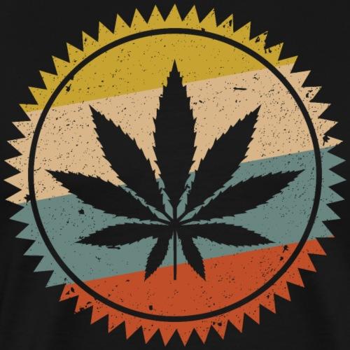 Vintage Weed Pot Leaf Symbol - Men's Premium T-Shirt