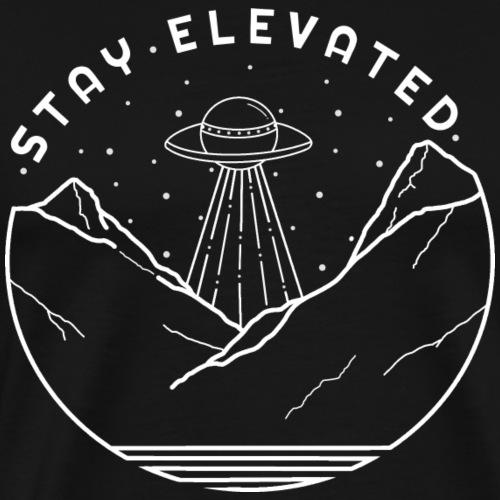Aliens Stay Elevated (White) - Men's Premium T-Shirt