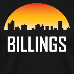 Billings Montana Sunset Skyline - Men's Premium T-Shirt