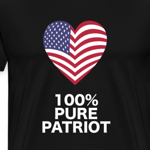 Percent patriot American freedom USA 4th of July - Men's Premium T-Shirt