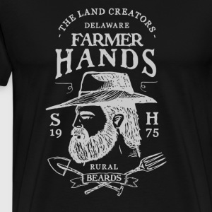 Vintage Style Farmer Hands - Men's Premium T-Shirt