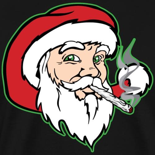 Santa Claus Smoking Weed - Men's Premium T-Shirt