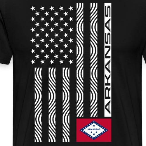 Modern US State Flag T-Shirt: ARKANSAS - Men's Premium T-Shirt