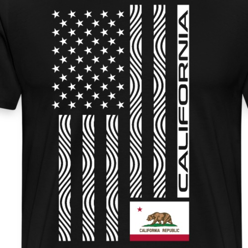 Modern US State Flag T-Shirt: CALIFORNIA - Men's Premium T-Shirt