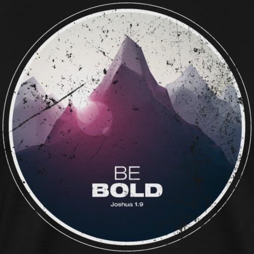 Be Bold Joshua 1:9™ - Christian Apparel - Vintage - Men's Premium T-Shirt