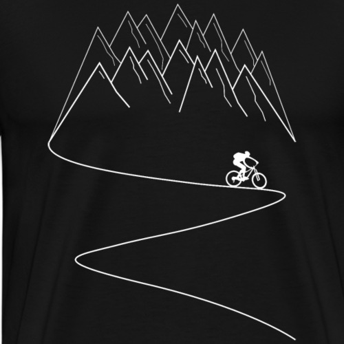 MTB mountain bike cycling mountains - Men's Premium T-Shirt