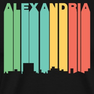 Retro 1970's Style Alexandria Louisiana Skyline - Men's Premium T-Shirt