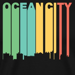 Retro 1970's Style Ocean City Maryland Skyline - Men's Premium T-Shirt