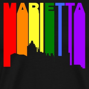 Marietta Georgia Gay Pride Rainbow Skyline - Men's Premium T-Shirt