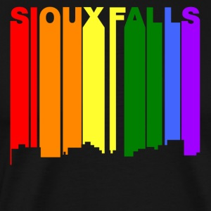 Sioux Falls South Dakota Gay Pride Skyline - Men's Premium T-Shirt